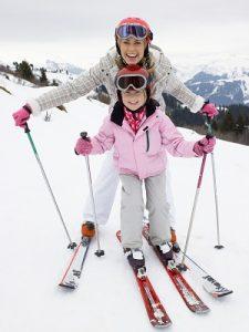 Mom Daughter Skiing 300 400